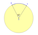 Angle measure of an arc - Math Open Reference