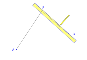 Geometry construction with compass and straightedge or ruler or ruler