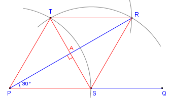 how to construct a 30 degree angle with compass and straightedge or