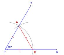 draw a 60 degree angle