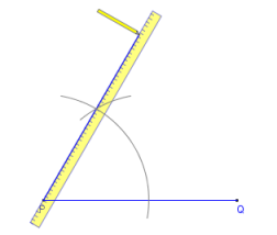 Printable instructions for drawing a 60 degree angle with compass ...