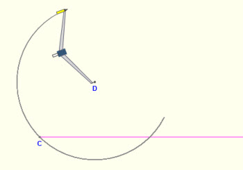 how to draw a 30 degree angle with a compass