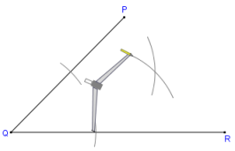 Printable instructions for bisecting an angle with compass and ...