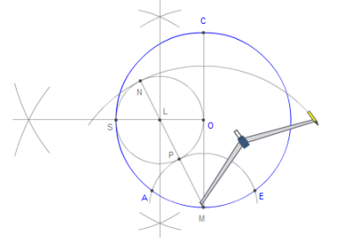 Printable instructions for constructing a pentagon inscribed in a ...