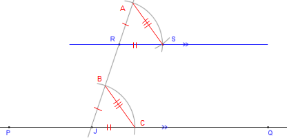 How To Construct A Parallel Through A Point With Compass And