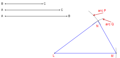 How to construct (draw) a triangle given three sides - Math Open ...